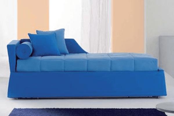 divano doppio letto blue