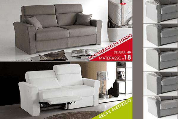 divano con schienale reclinabile elettrico