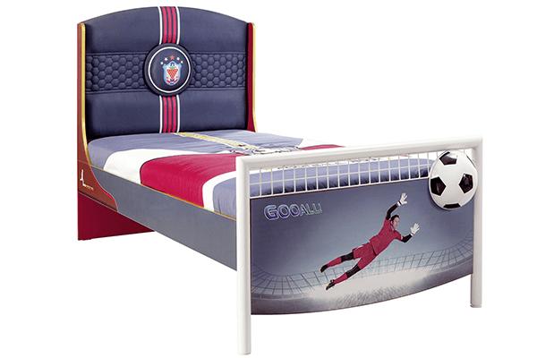 letto cameretta con pallone calcio