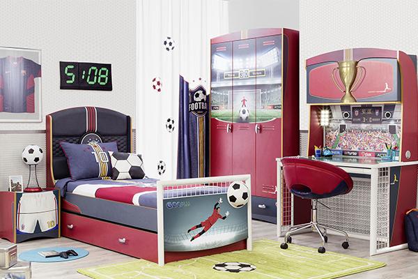 camera per ragazzi a tema calcio