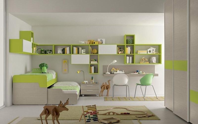Libreria Cedro, Rovere portofino, Bianco opaco