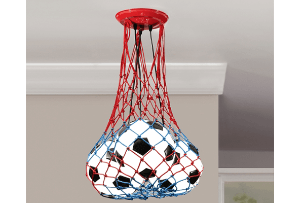 lampadario con palloni calcio