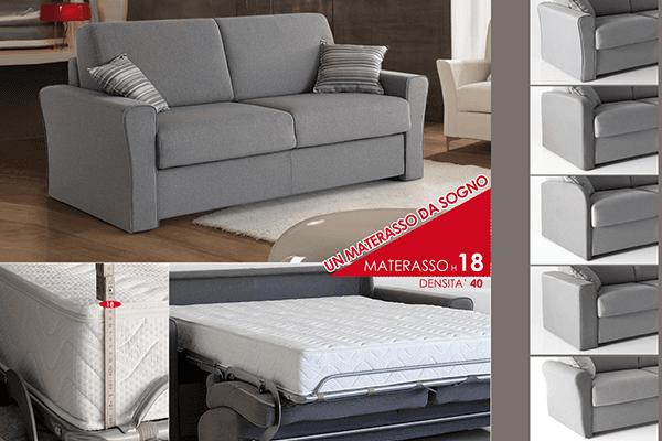 divano con materasso matrimoniale