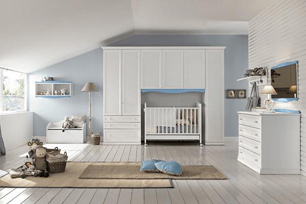 cameretta neonato con armadio