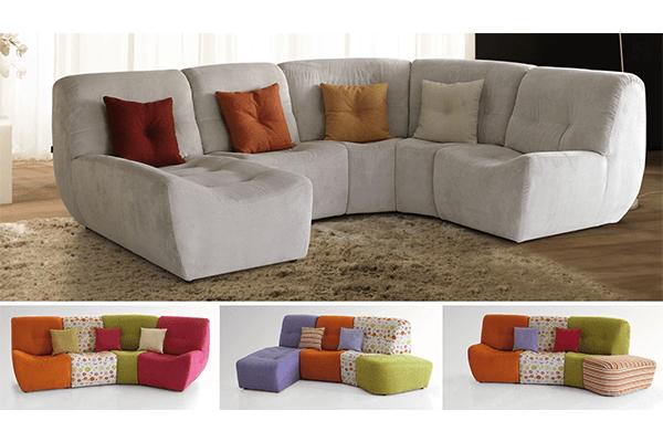 divano composizione ad angolo