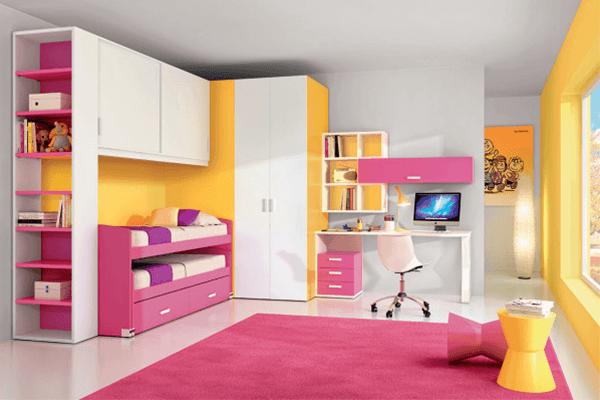 Cameretta Arancione E Gialla : Stanzette moderne caserta trepiccione camerette