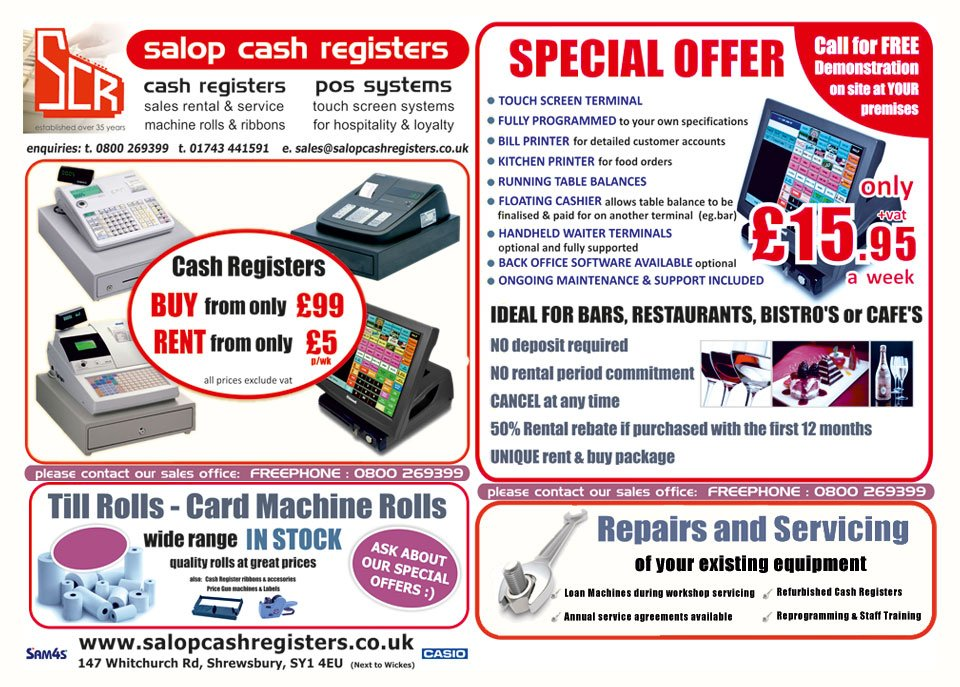 Cash register dealers