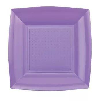 un contenitore di plastica a forma quadra di coloir viola