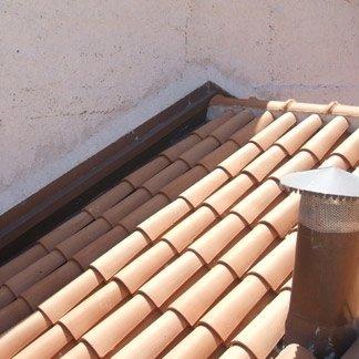 grondaia artigianale, tetto
