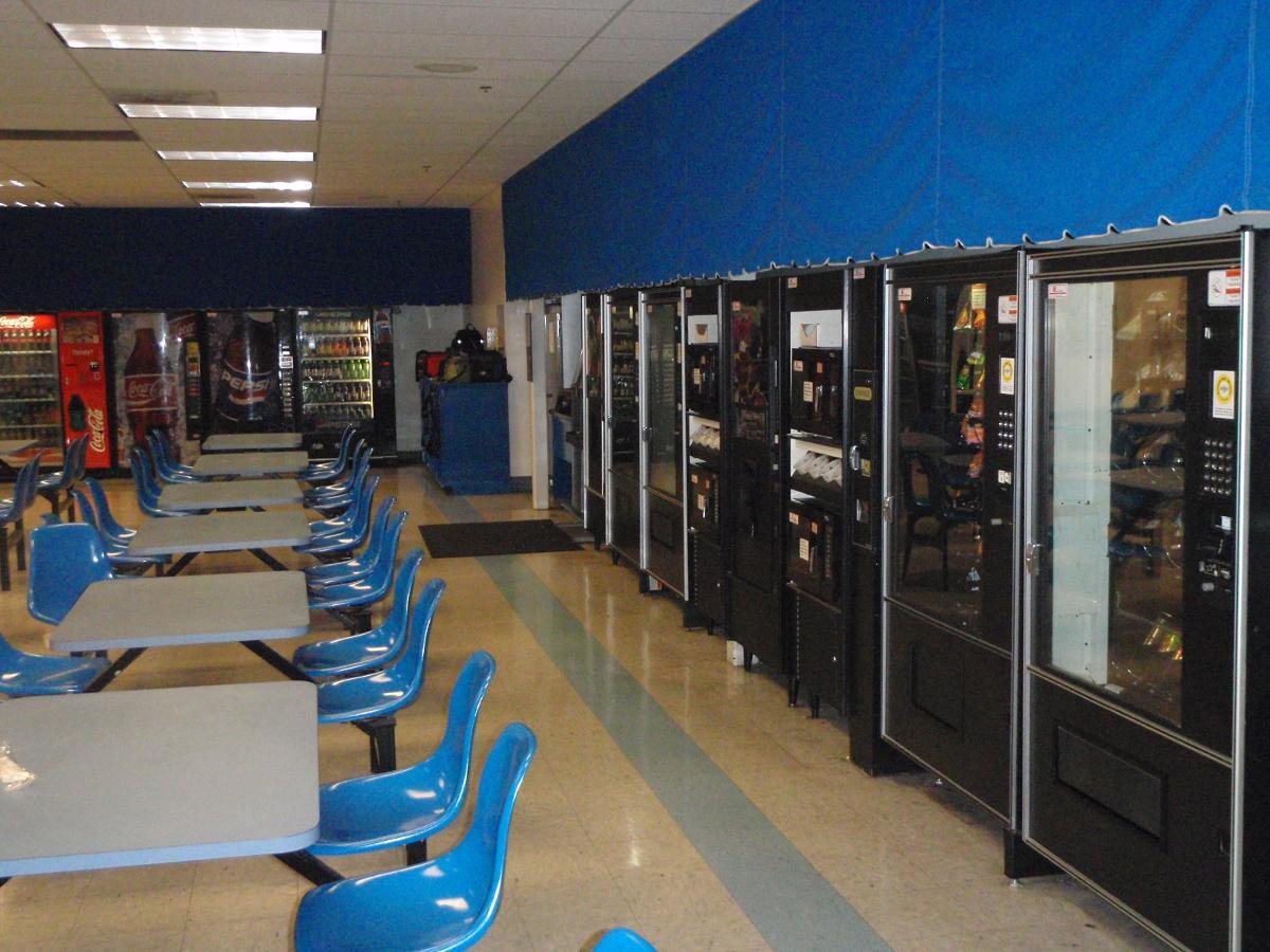 Vending Machines in Break Room, Statesville NC