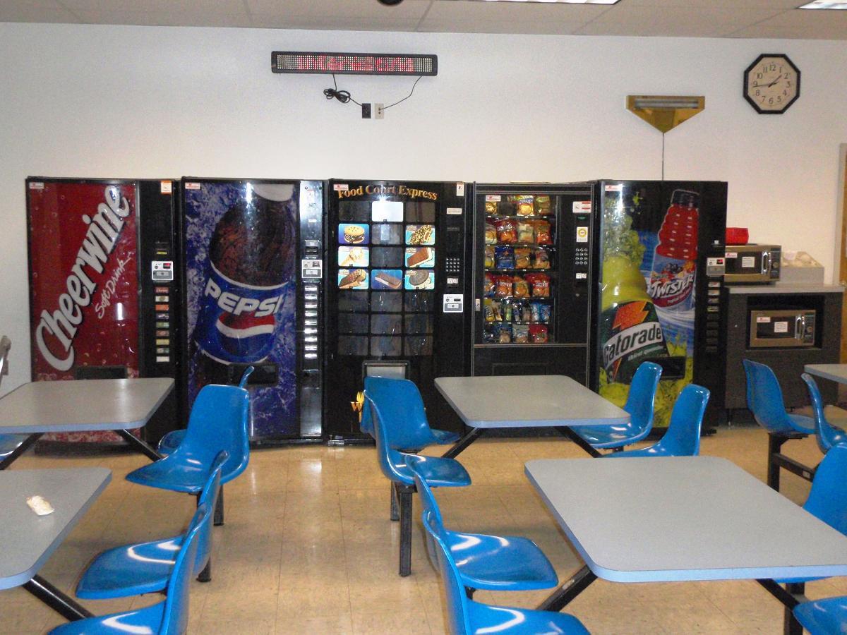 Beverage Vending Machines in Break Room, Burlington NC