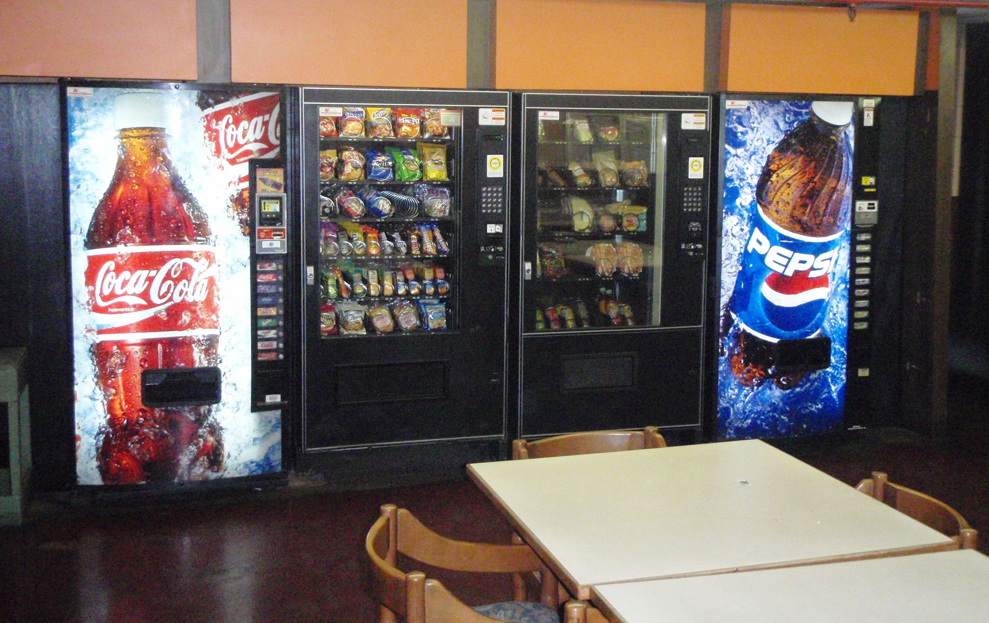 Pop & Soda Beverage Vending Machines, Salisbury NC