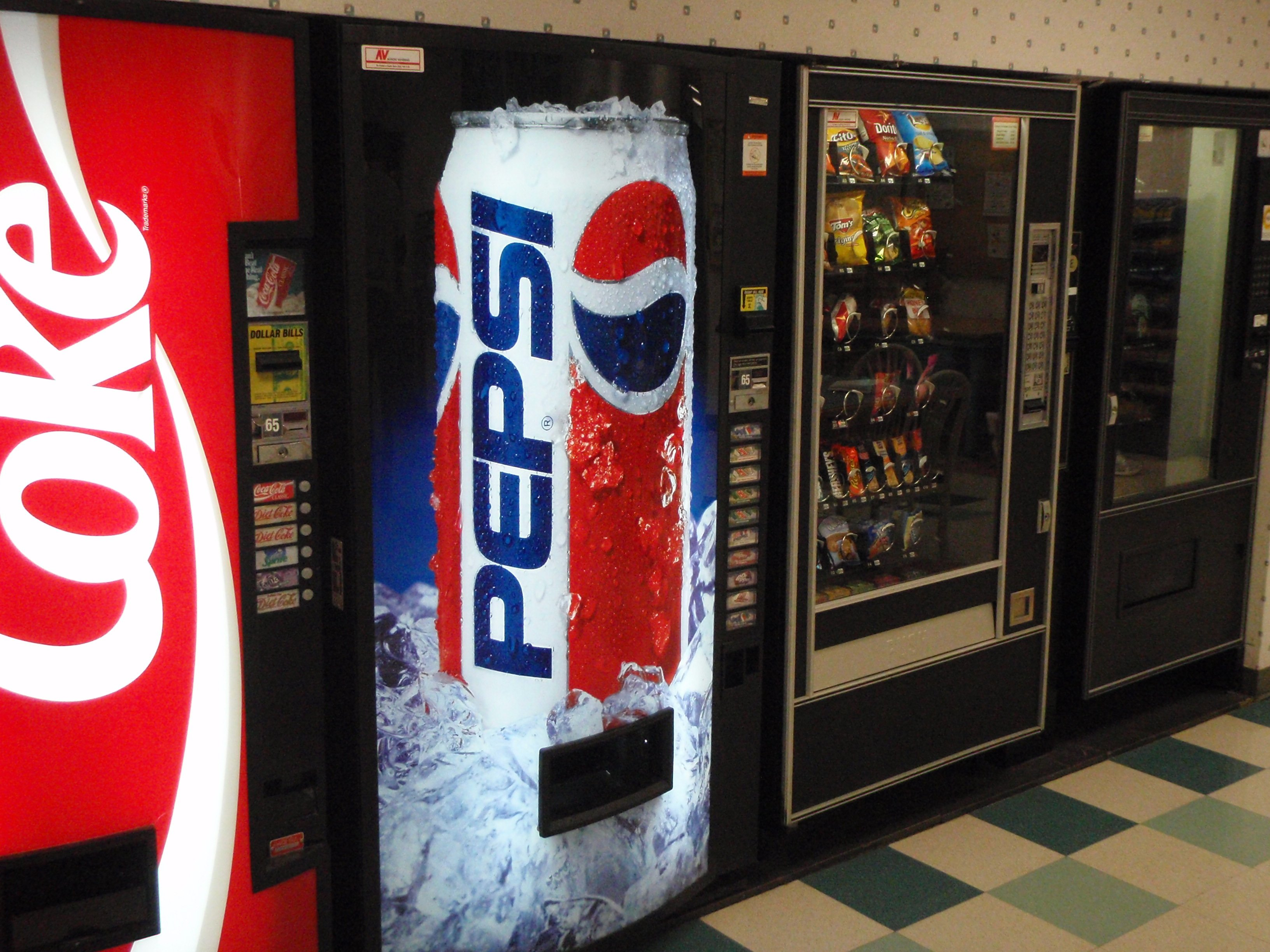 Coke & Pepsi Beverage Vending Machines, Winston-Salem NC