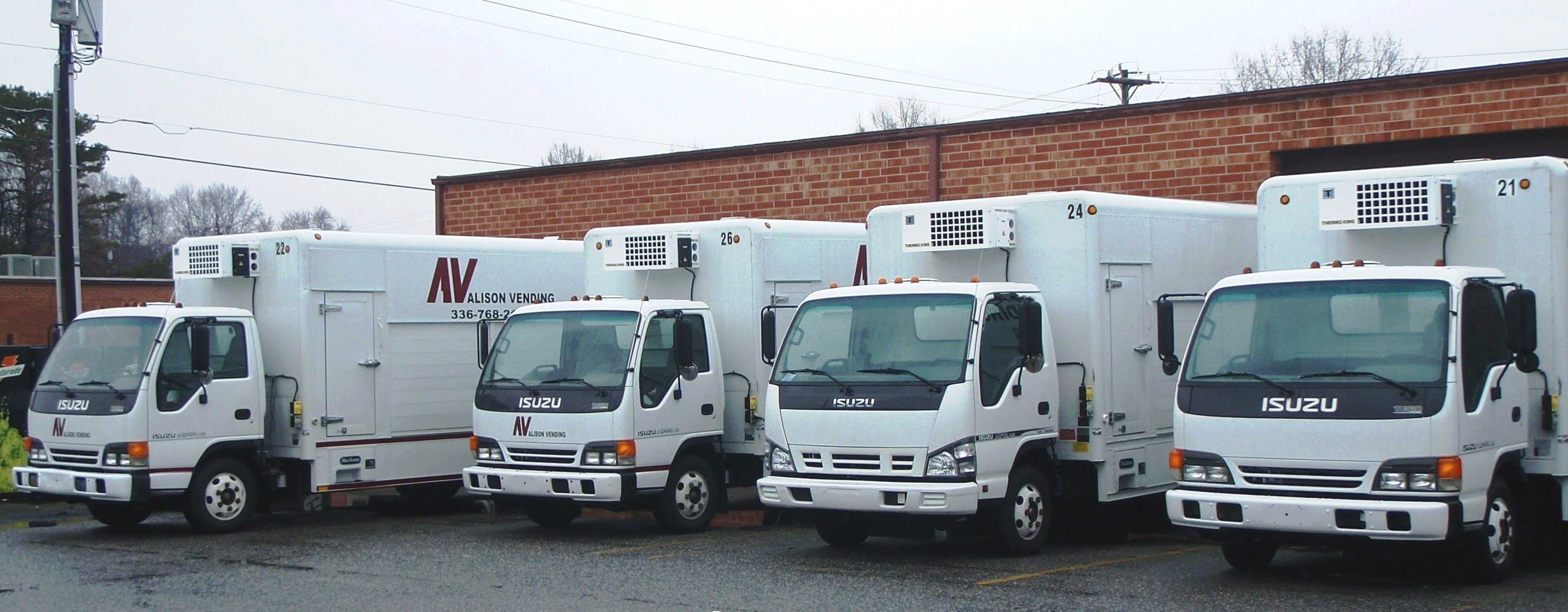 Trucks for Vending Machine Transportation, Salisbury NC