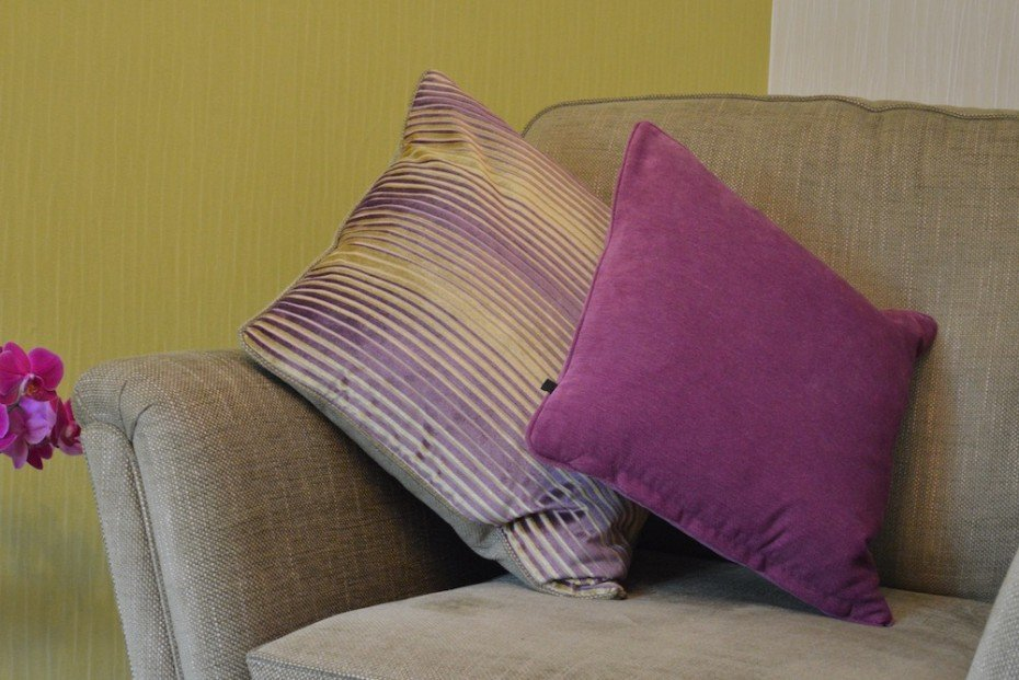 purple solid cushion