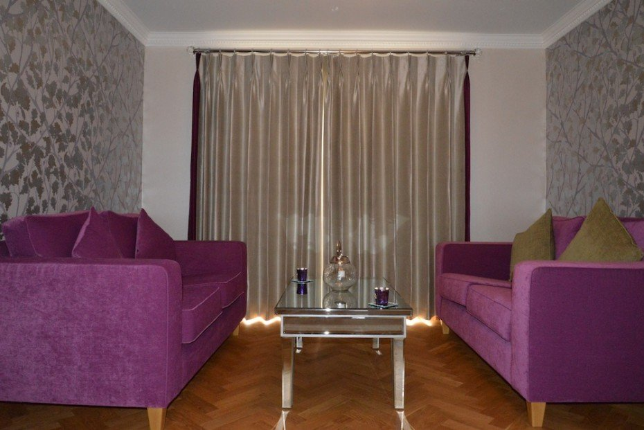 purple sofas