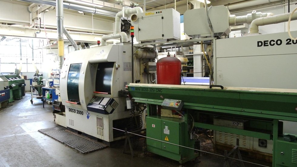 Maschinenpark des Unternehmens
