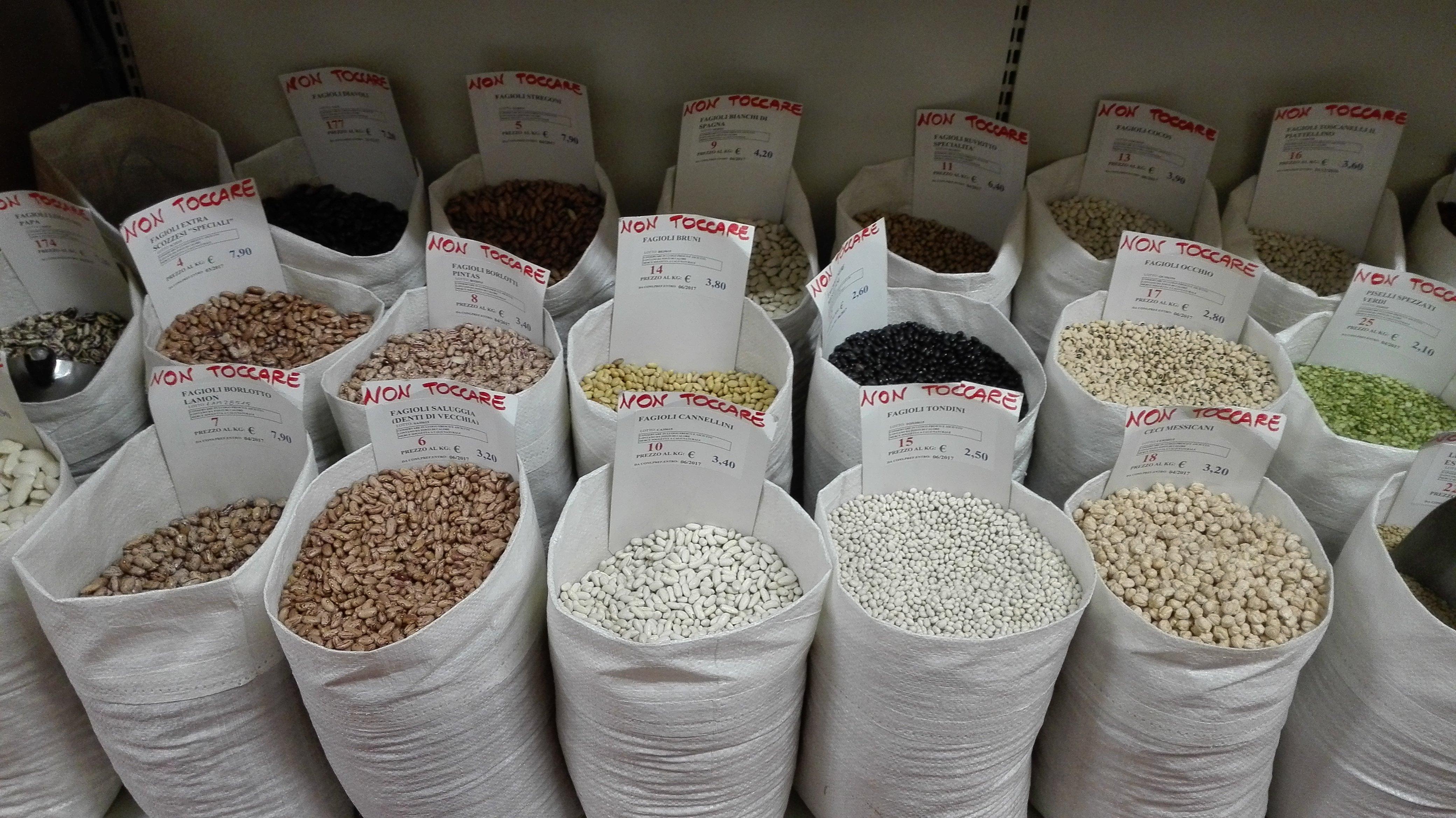 farine alimentari; frutta e verdura; frutta essiccata;