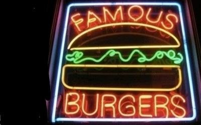 insegne filo neon burger lazio