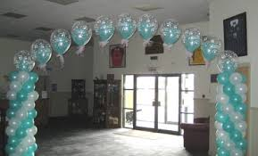 balloons hung on the wall
