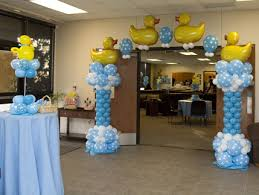 multi-coloured balloon decoration