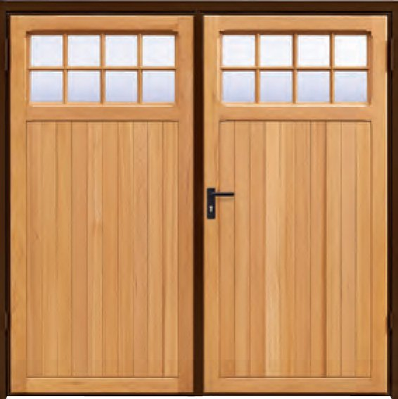 Wooden Garage Doors Side Hinged - Fluidelectric
