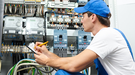 Contractor doing the maintenance of electrical  circuit