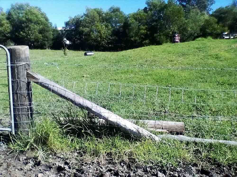 old fence construction