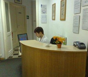 entrata del laboratorio analisi cliniche mediche Paolo Gorini a Roma