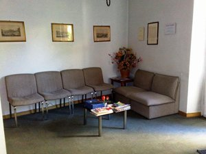 sala di attesa laborati analisi cliniche mediche Paolo Gorini a Roma