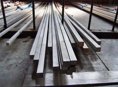 Barre quadre di acciaio inox