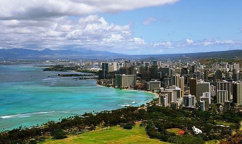 Beautiful view of Waimanalo beach