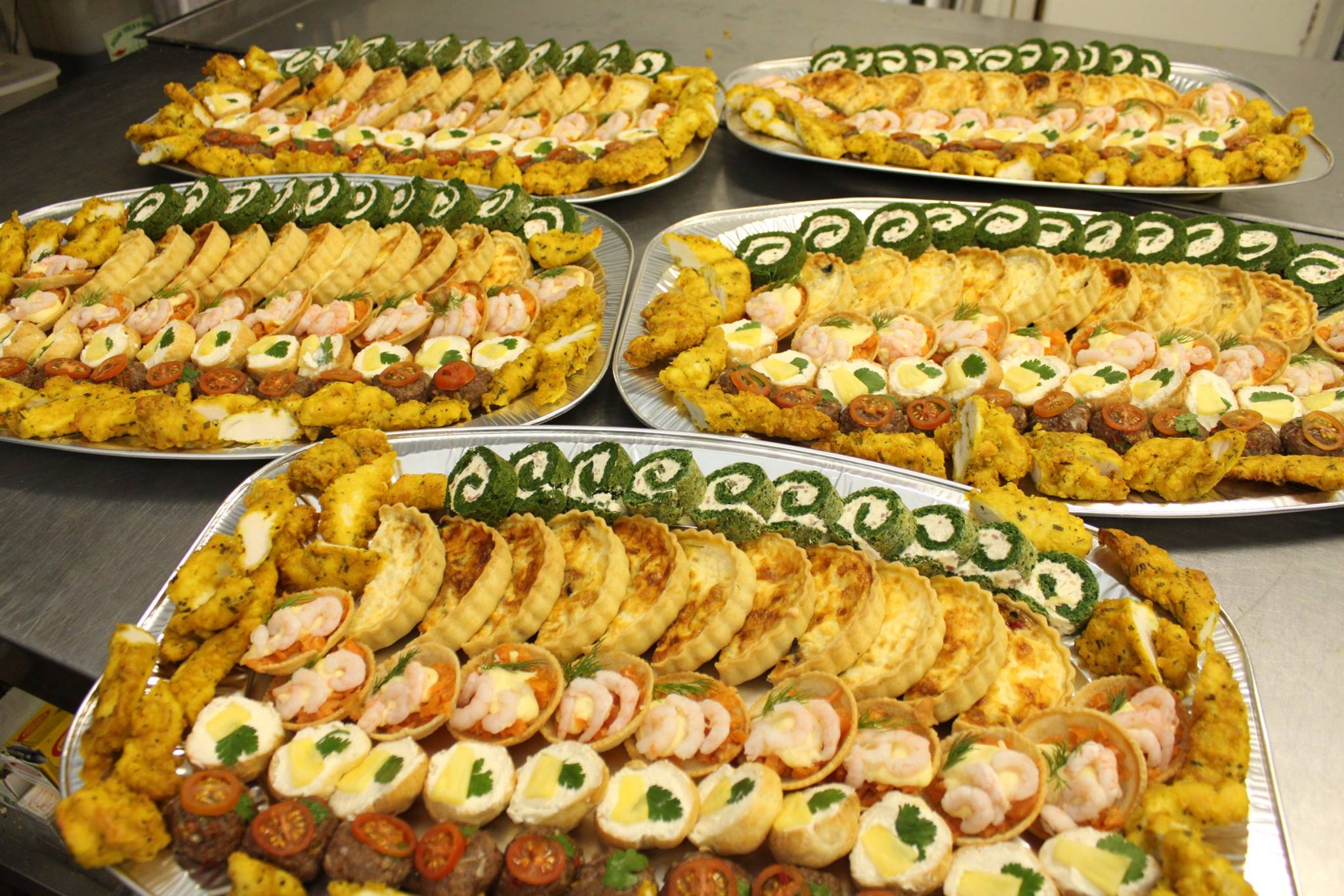A buffet about to delivered.