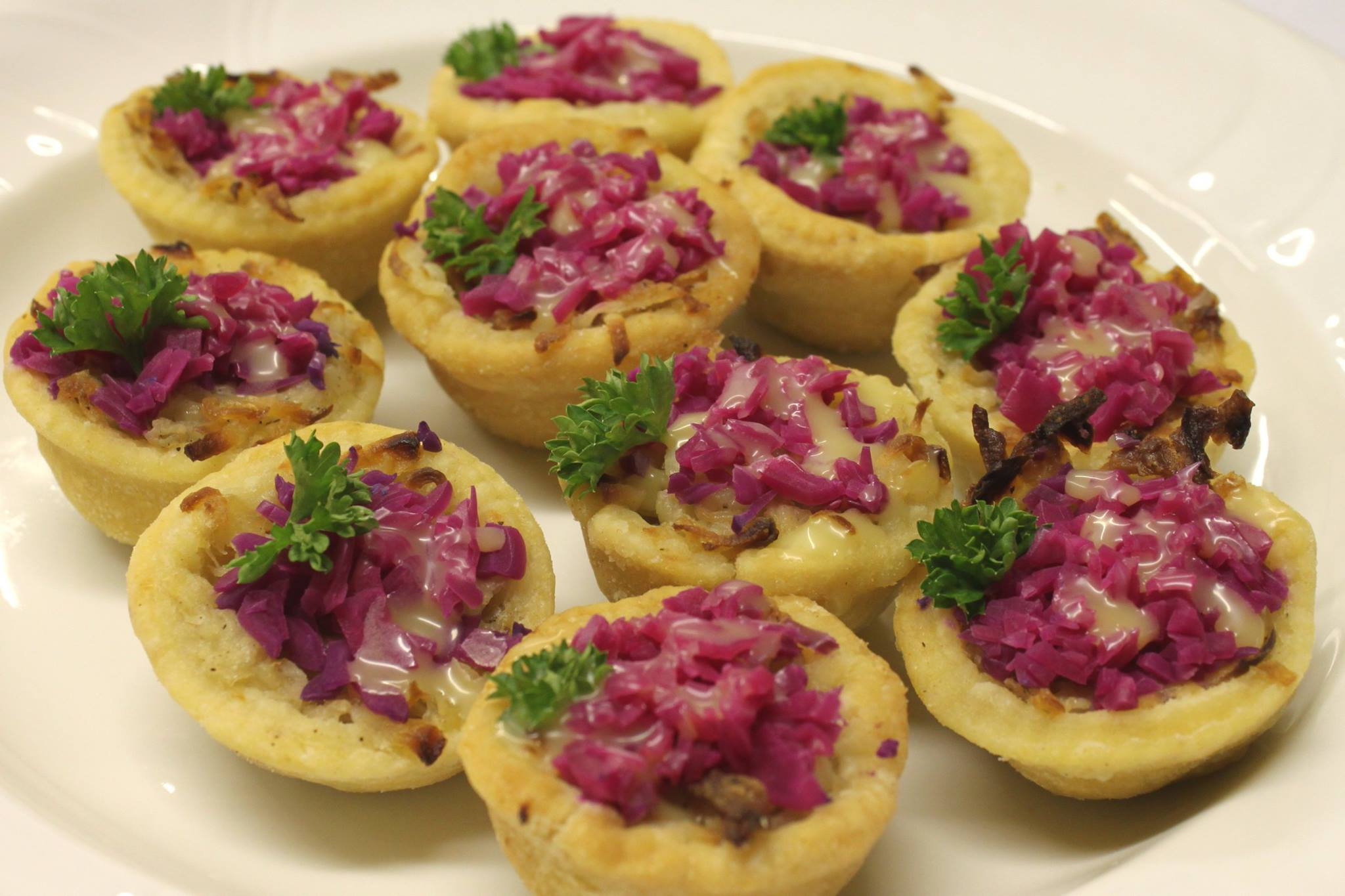 Lancashire butter pie canapes.