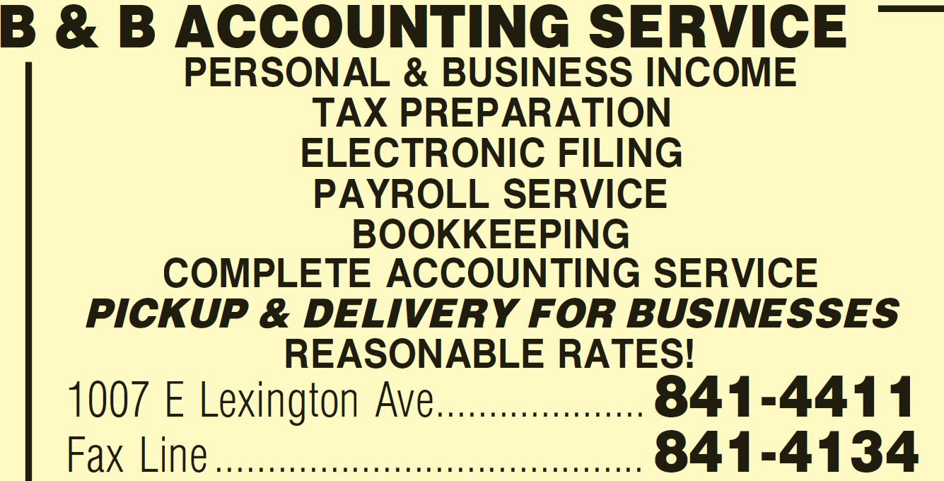B & B accounting services in High Point, NC