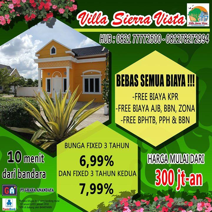 promo tahun baru 2018 rumah baru dijual di perumahan villa sierra vista palembang