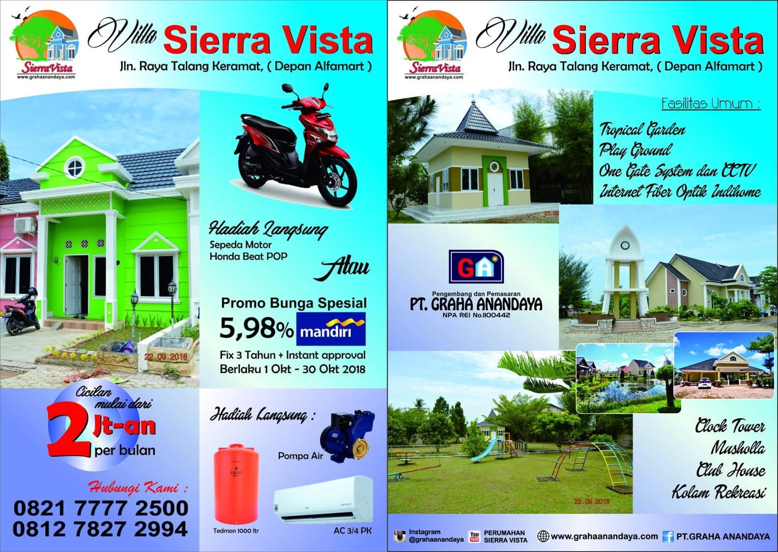 Rumah Baru Di Perumahan Sierra Vista Palembang Graha Anandaya