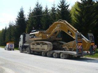 trasporto di macchina edile