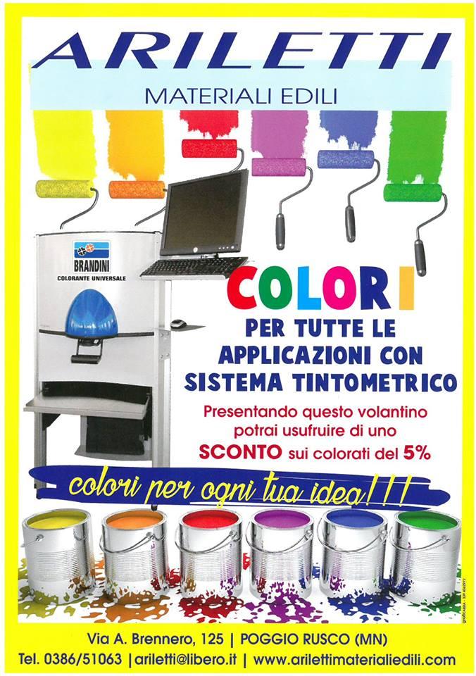 volantino promozionale colori