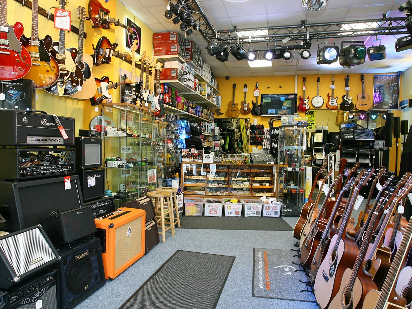 a wide range of musical instruments