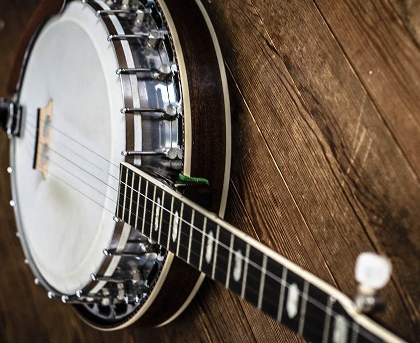 closer view of the banjo
