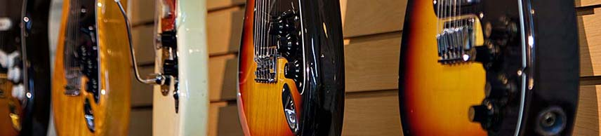 partial view of the guitars