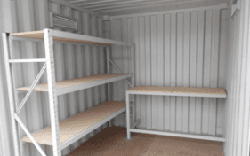 All vic container container with shelves