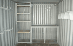 All vic container container interior shelf