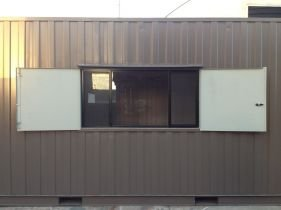 All vic container container with windows