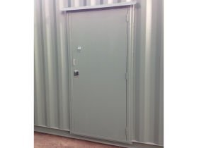 All vic container container shelter sidedoor