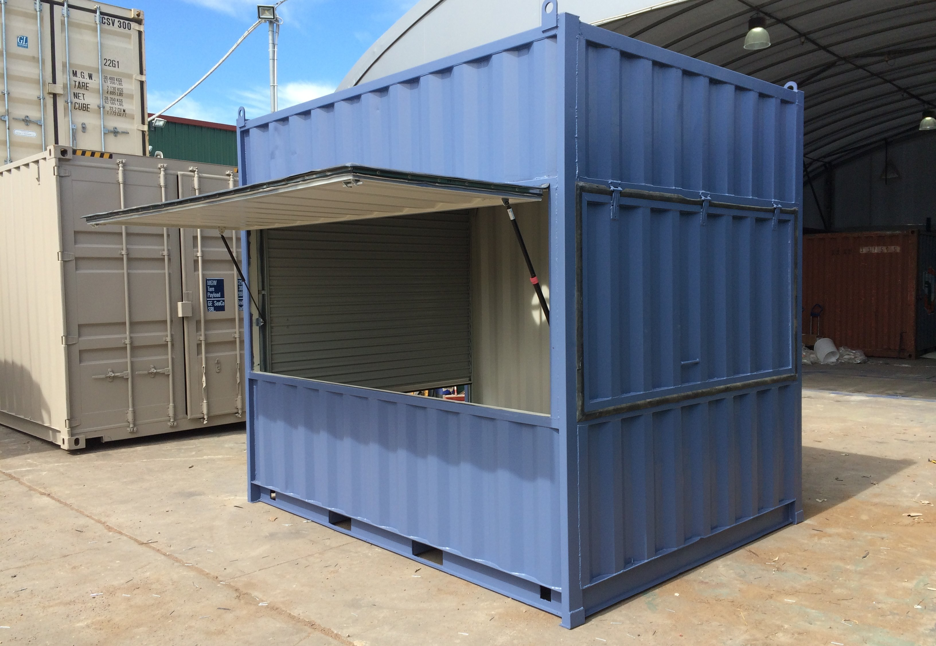 An example of quality shipping container modifications in Melbourne.