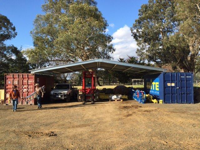Two portable self storage units in Victoria.