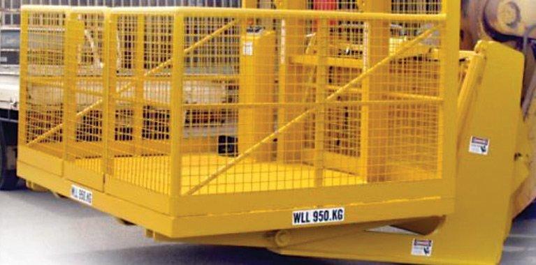 yellow mancage elevated platform