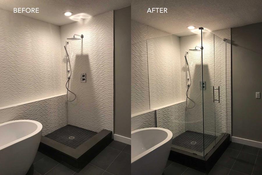 custom glass shower enclosures gallery baker glass jacksonville fl fernandina beach fl yulee fl